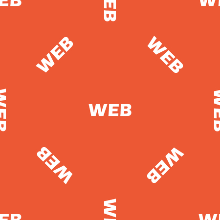repeated: White text WEB, repeated on orange background