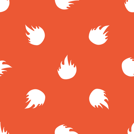 conflagration: Image of flame, repeated on orange background