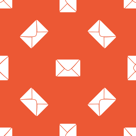 recipient: Image of envelope, repeated on orange background