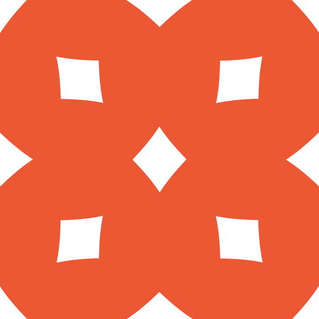 repeated: Image of diamonds card symbol, repeated on orange background