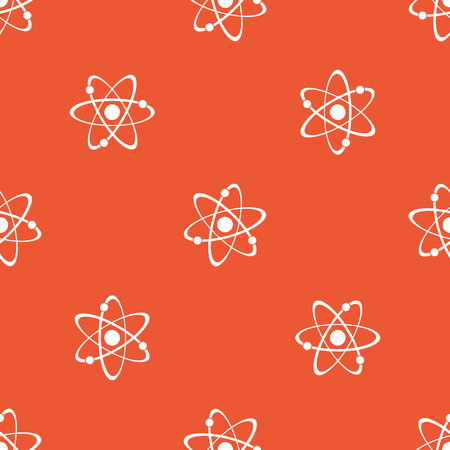repeated: Image of atom, repeated on orange background Illustration