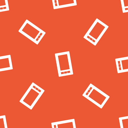 repeated: Image of smartphone, repeated on orange background Illustration