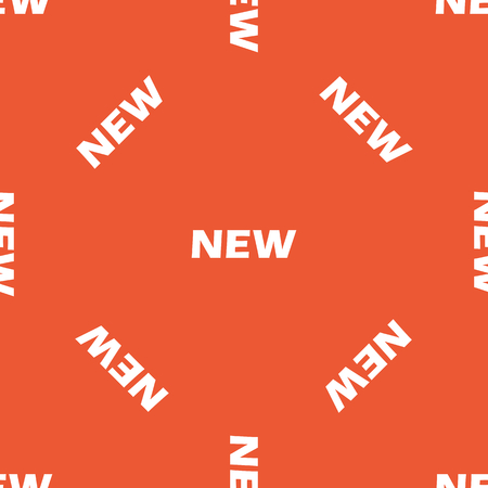 repeated: White text NEW, repeated on orange background Illustration