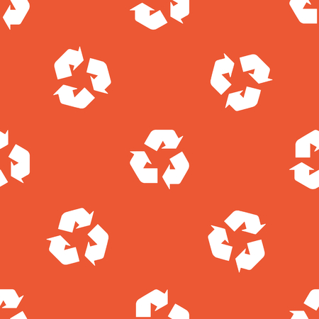 repeated: Image of recycle sign, repeated on orange background