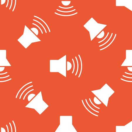 repeated: Image of loudspeaker, repeated on orange background