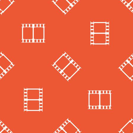 repeated: Image of film strip, repeated on orange background Illustration