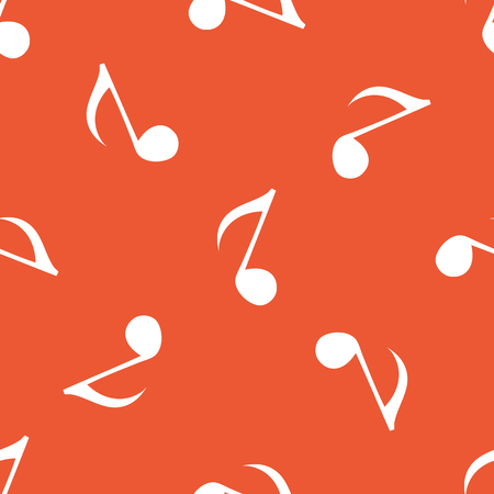 repeated: Image of eighth note, repeated on orange background