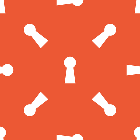 repeated: Image of keyhole, repeated on orange background Illustration