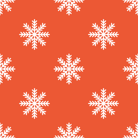 repeated: Image of snowflake, repeated on orange background