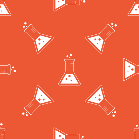 repeated: Image of conical flask, repeated on orange background Illustration