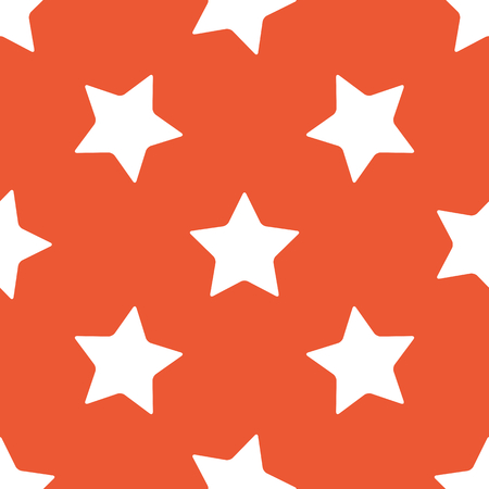 repeated: Image of star, repeated on orange background Illustration