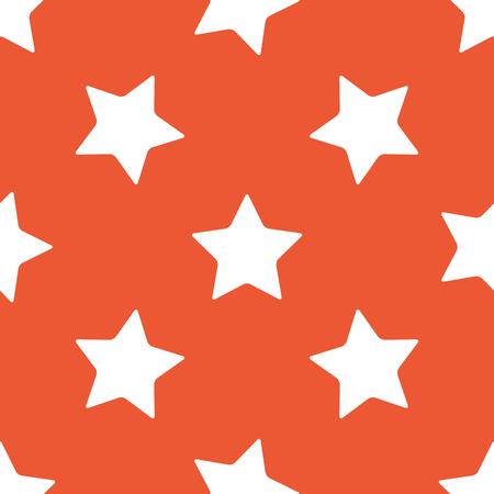 ideogram: Image of star, repeated on orange background Illustration