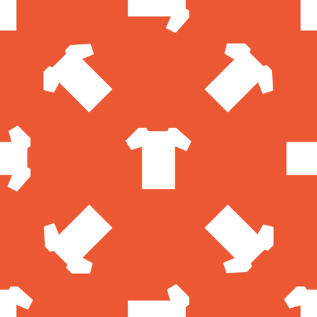 repeated: Image of T-shirt, repeated on orange background
