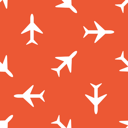 repeated: Image of plane, repeated on orange background