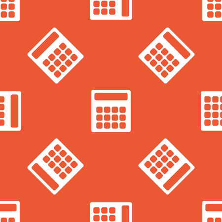 repeated: Image of calculator, repeated on orange background