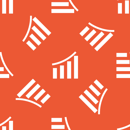 repeated: Image of bar graphic, repeated on orange background