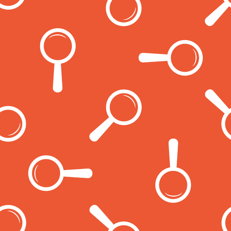 repeated: Image of magnifier, repeated on orange background