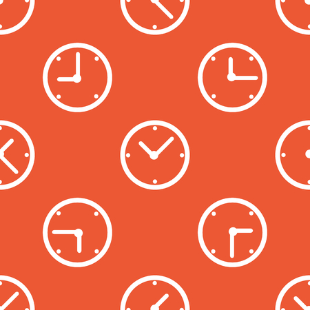 repeated: Image of clock, repeated on orange background