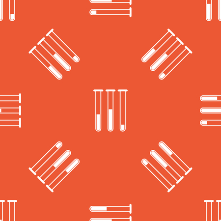 reagents: Image of three test-tubes, repeated on orange background
