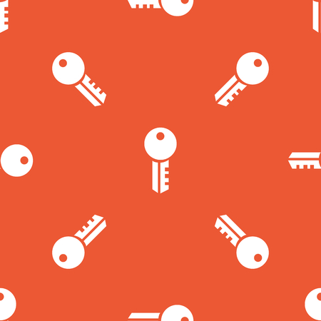 repeated: Image of key, repeated on orange background