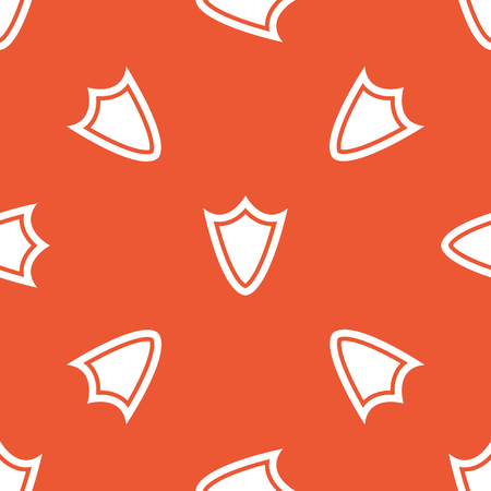 repeated: Image of shield, repeated on orange background Illustration