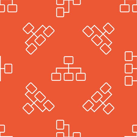 repeated: Image of scheme, repeated on orange background Illustration