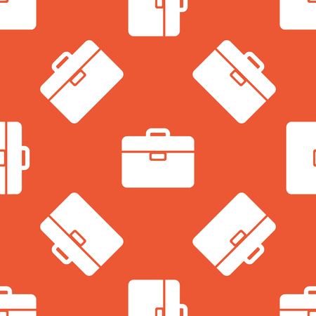 repeated: Image of briefcase, repeated on orange background