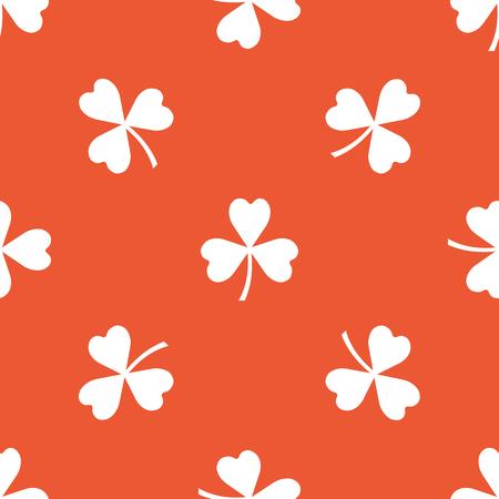 clover backdrop: Image of clover leaf, repeated on orange background