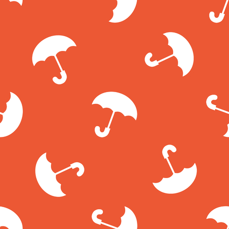 repeated: Image of open umbrella, repeated on orange background