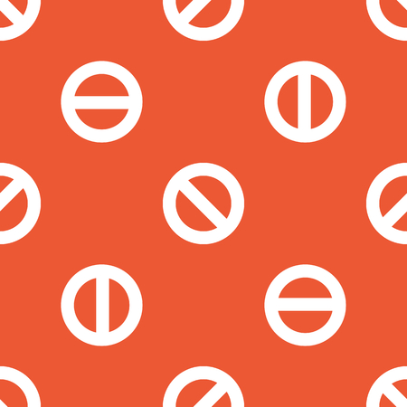 no image: Image of NO sign, repeated on orange background