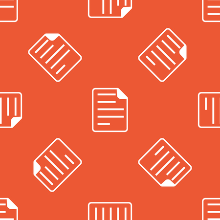 article writing: Image of document page, repeated on orange background