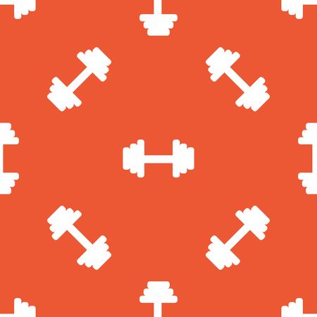 barbell: Image of barbell, repeated on orange background