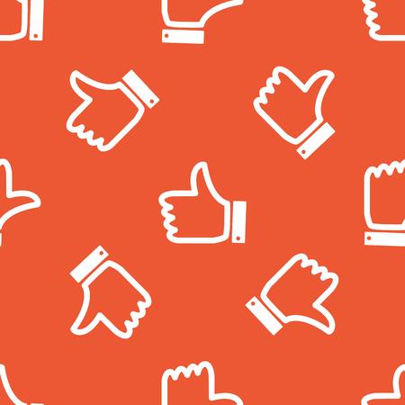 repeated: Image of like symbol, repeated on orange background