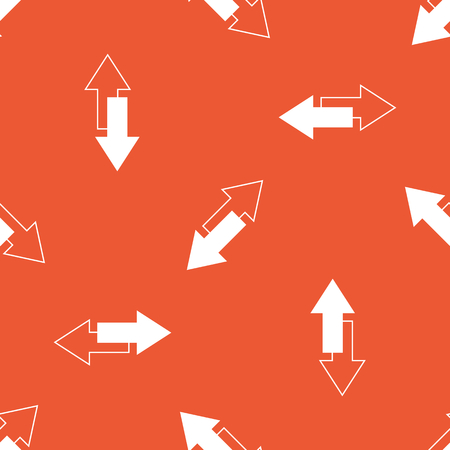 opposite: Image of two tilted opposite arrows, repeated on orange background