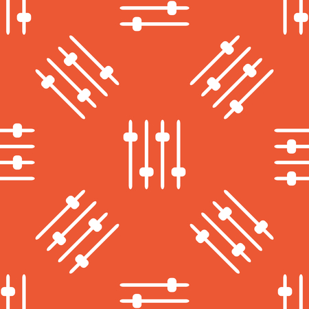 repeated: Image of four console faders, repeated on orange background Illustration
