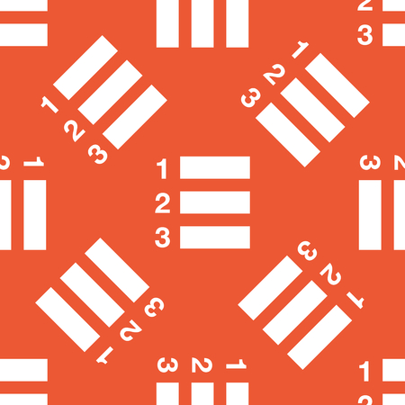 enumerated: Image of numbered list, repeated on orange background