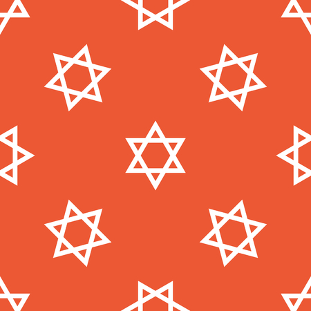 shield of david: Image of Star of David symbol, repeated on orange background