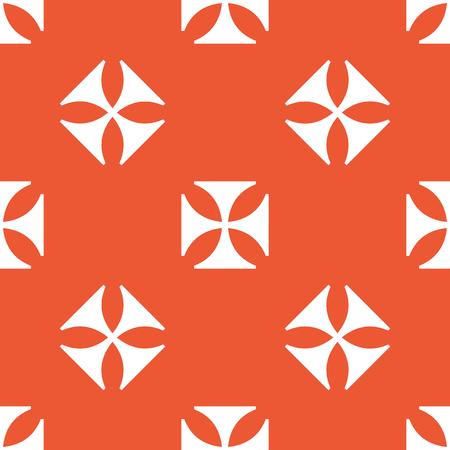 maltese: Image of maltese cross, repeated on orange background