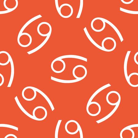 cancer zodiac: Image of Cancer zodiac symbol, repeated on orange background