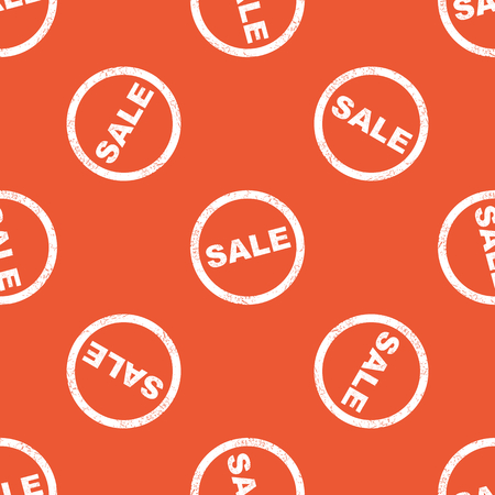 repeated: Image of grunge SALE sign, repeated on orange background Illustration