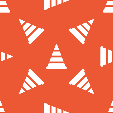 redirection: Image of traffic cone, repeated on orange background