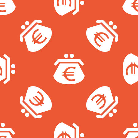repeated: Image of purse with euro symbol, repeated on orange background