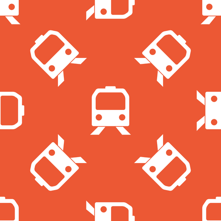 repeated: Image of train face, repeated on orange background
