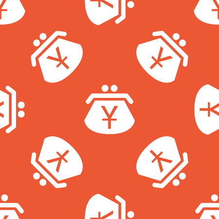 repeated: Image of purse with yen symbol, repeated on orange background