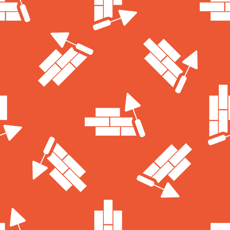 repeated: Image of wall under construction, repeated on orange background