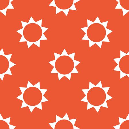 repeated: Image of sun, repeated on orange background Illustration