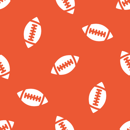 gridiron: Image of rugby ball, repeated on orange background