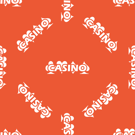 repeated: Image of casino logo, repeated on orange background