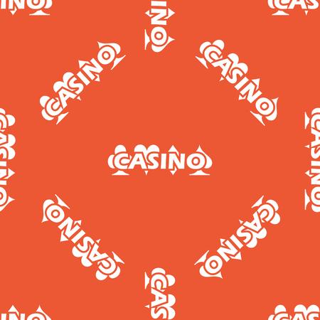 repeated: Image of casino logo, repeated on orange background