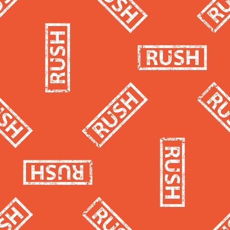 archive site: Image of stamp with word RUSH, repeated on orange background